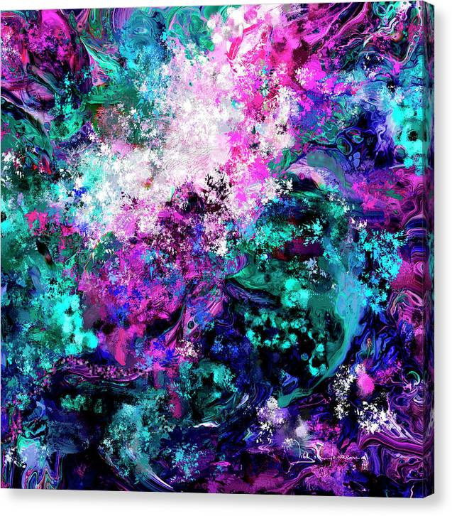 Abstract 5 - Ink Pour Mystery - Canvas Print