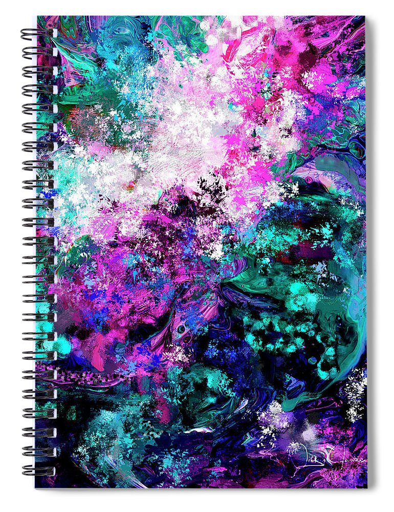 Abstract #5 - Mystery - Spiral Notebook