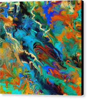 Ink Pour Abstract - Canvas Print