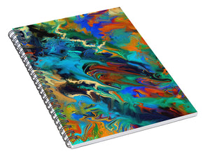 Ink Pour Abstract - Spiral Notebook