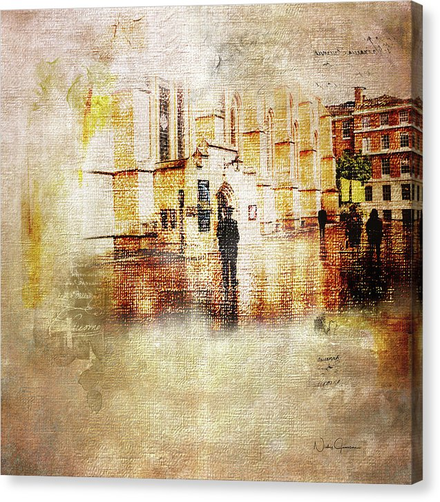 Just Light Middle Temple - Canvas Print