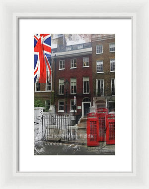 Lincoln's Inn Field - Framed Print