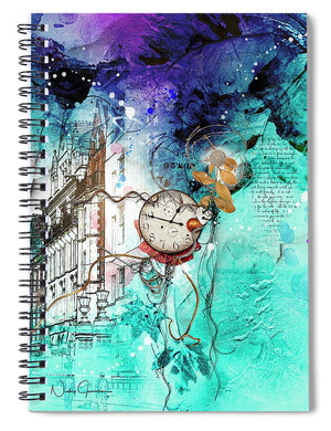 Lincoln's Inn Streetscape - Spiral Notebook