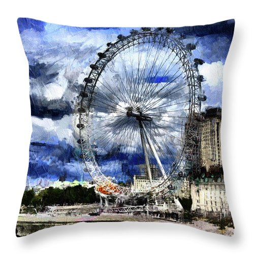 London Eye - Throw Pillow