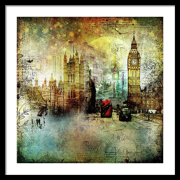 London Lights - Framed Print