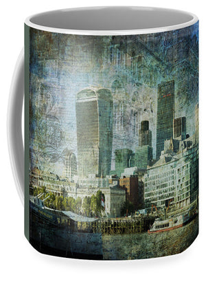 London Skyline Key Of Blue - Mug