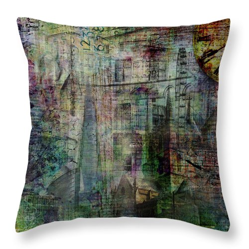 London - Urban Spires - Throw Pillow