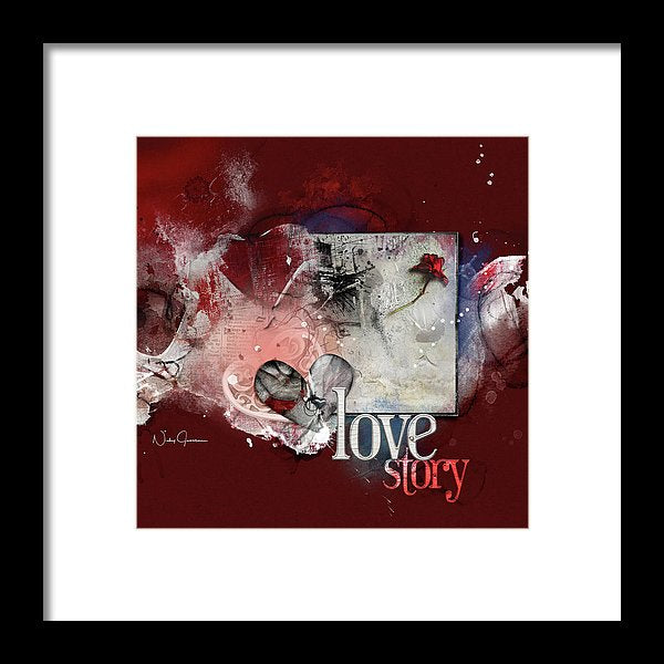Love Story- Concrete Rose - Framed Print