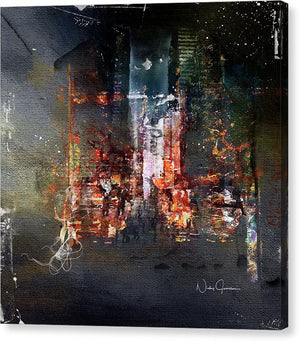 Midnight Walk Downtown - Canvas Print