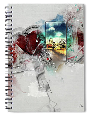 Millenium - View Of St Paul's - Spiral Notebook