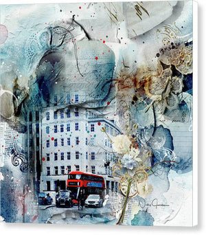 Muted - Textural City of London - Canvas Print