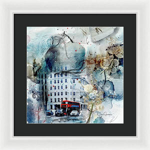 Muted - Textural City - Framed Print