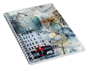 Muted - Textural City of London - Spiral Notebook