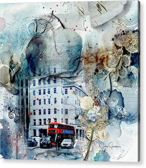 Muted - Textural City of London - Acrylic Print