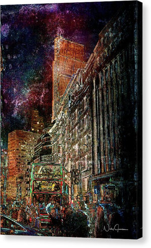 Night Bus - Canvas Print