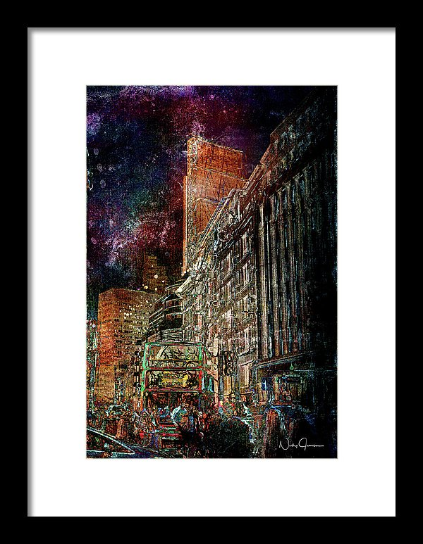 Night Bus - Framed Print
