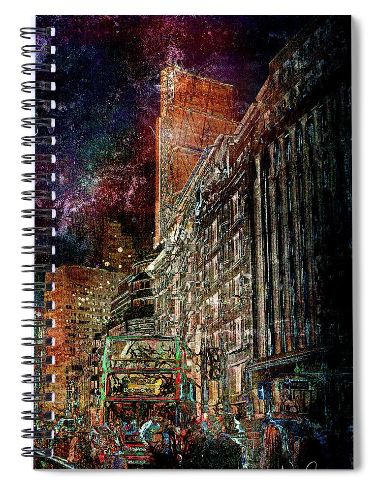 Night Bus - Spiral Notebook