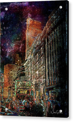 Night Bus - Acrylic Print