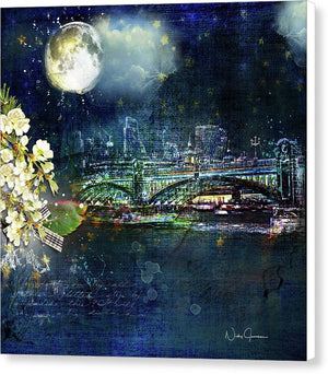 Night Eclipse  - Canvas Print