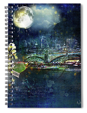 Night - Eclipse  - Spiral Notebook