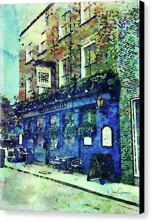 Old Fountain Pub - Canvas Print