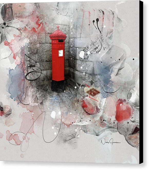 Old  Style Pillar Box - Canvas Print