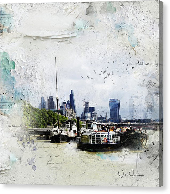 On The River - Canvas Print