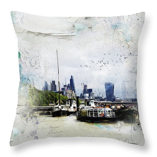 On The River - Throw Pillow