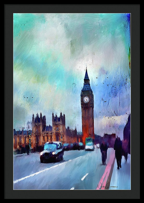 On Westminster Bridge - Framed Print