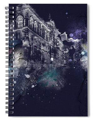 Oxford Street Lights - Spiral Notebook