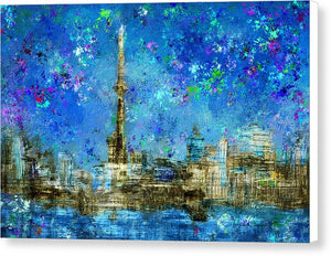 Painted City - Toronto Skyline  Canvas Print