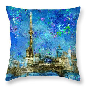 Painted City - Toronto Skyline - Throw Pillow