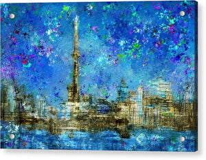 Painted City Toronto Skyline Acrylic Print