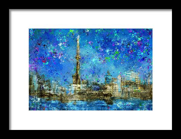 Painted City Toronto Skyline - Framed Print