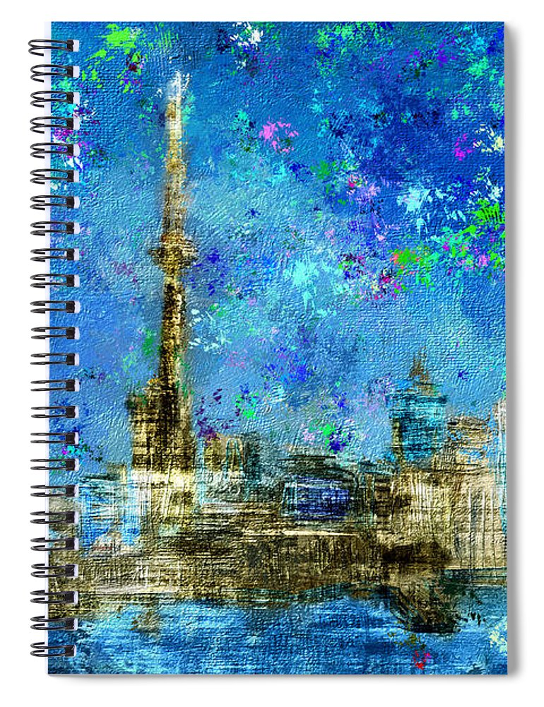Painted City - Toronto Skyline- Spiral Notebook