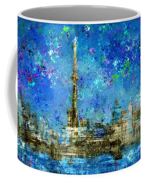Painted City - Texture Art - Mug