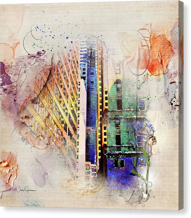 Painting Toronto- Commerce Court East - Canvas Print