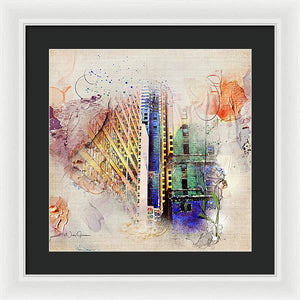 Painting Toronto- Commerce Court East - Framed Print