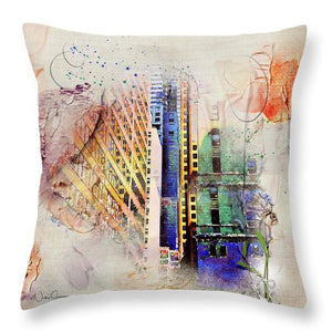 Painting Toronto- Commerce Court East - Throw Pillow