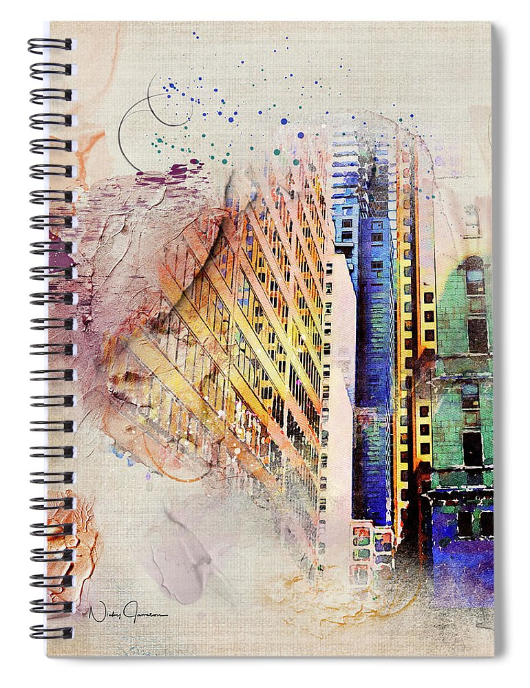 Painting Toronto- Commerce Court East - Spiral Notebook