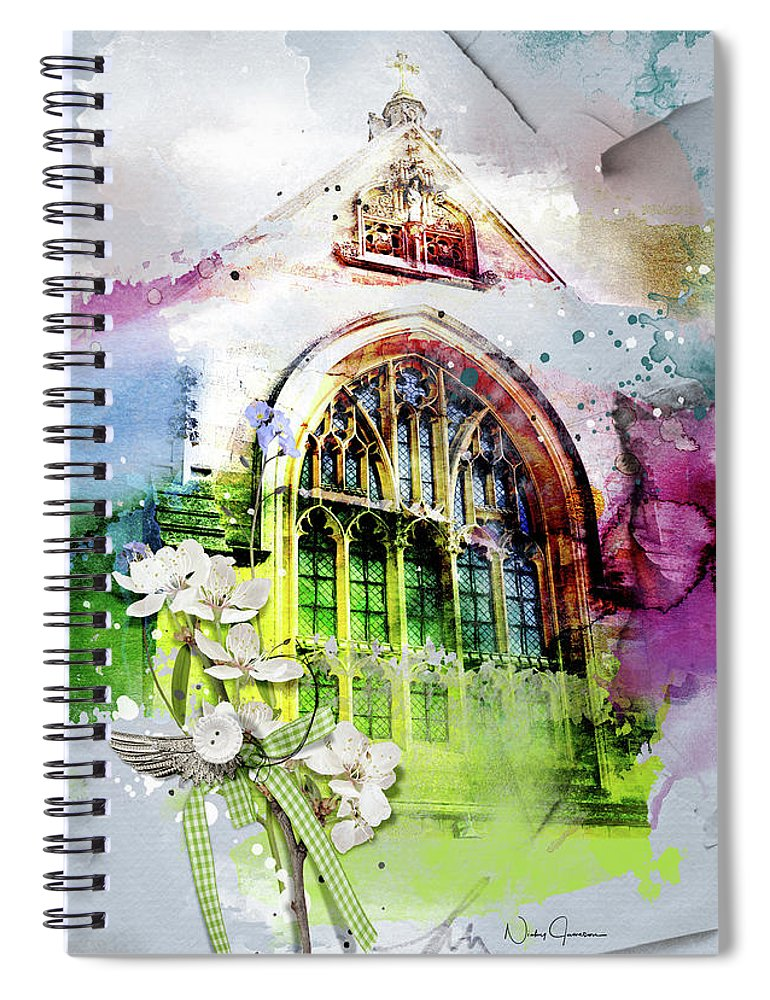 Peace and Love - Spiral Notebook