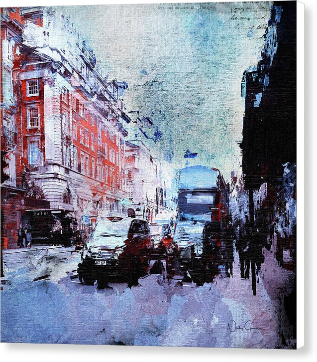 Piccadilly. Afternoon Rush - Canvas Print