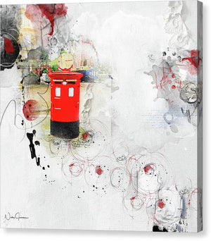 london pillar box artwork, canvas