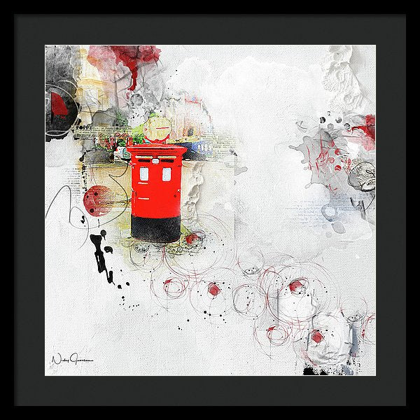 Pillar-box Times  - Framed Print