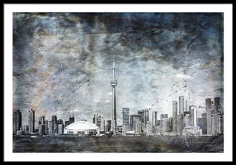 Quiet Sky - Toronto Skyline Framed Print available to order online
