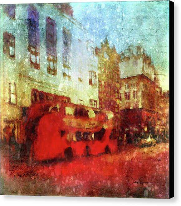 Rain On A London Street - Canvas Print