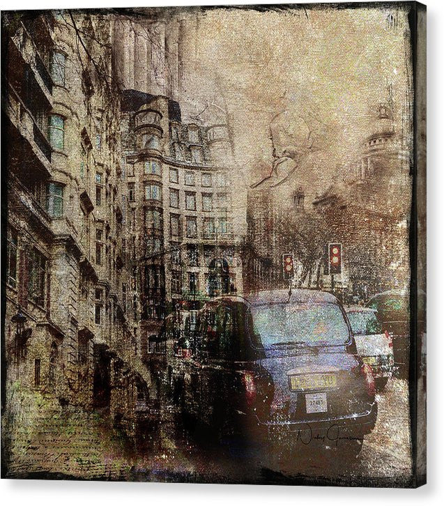 Rainy Day - London Urban Canvas Art