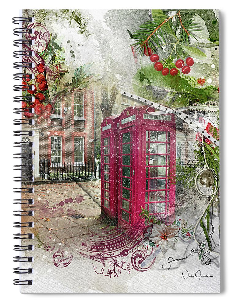 Richmond Green in the Snow - Spiral Notebook