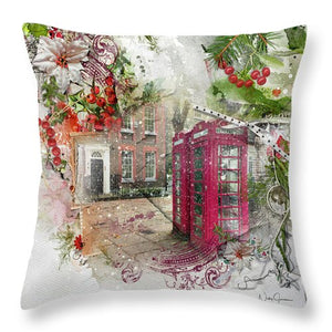 Richmond Green in the Snow - Throw Pillow