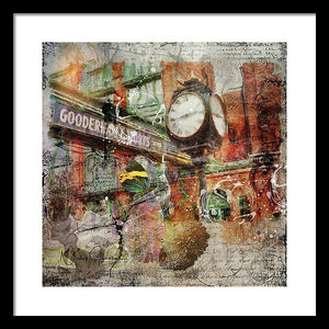 Riot Of Colour Distillery District - Framed Print